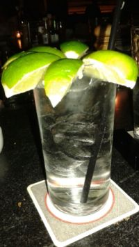 limes in gin